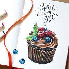 Cacao #cake #sketch #copic #marker