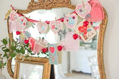 Domestic Fashionista: Vintage and Handmade Inspired Valentine's Day Decorations