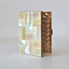 Vintage Shell Mirrored Cigarette Holder by threadsandpins on Etsy