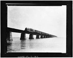 72.  Knight's Key Bridge, passenger train crossing bridge, no date (Bramson Collection, X-336-1). - Seven Mile Bridge, Linking Florida Keys, Marathon, Monroe County, FL