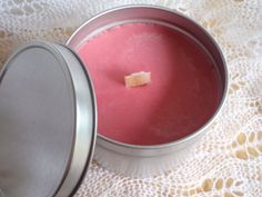 Indian Sandalwood Wood Wick Candle in Tin 6 by CherryOakCandles, $8.99