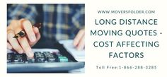 While moving to another place and at the time of hiring movers it is important to understand and know some factors that determine and affect long distance moving quotes. #longdistancemovingquotes #freemovingquotes #interstatemovingquotes #crosscountrymovingquotes #movingtips #longdistancemovingquotesonline