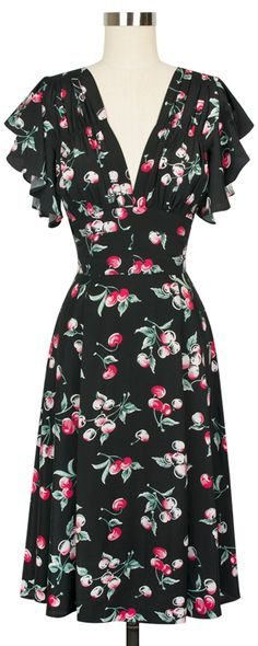 The brand new Trashy Diva 40's Flutter Dress comes in the classic Cherries print!