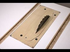 Homemade Table Saw - 4: Removable Insert and Fine-Tuning - YouTube