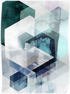 Graphic Hexagons Plakat i gruppen Plakater / Kunstplakater / Abstrakt kunst hos Desenio AB Kunst Poster, Gold Poster, Plakat Design, Art Moderne, Geometric Art, Geometric Patterns, Art Auction, Medium Art, Canvas Art