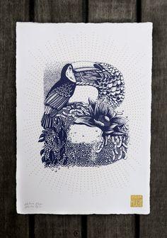 Un alphabet avec des lettres formées par des animaux et végétaux par Valerie Hugo  Dessein de dessin