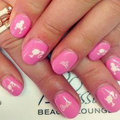 Cute Pink Nails, Love Nails, Pretty Nails, Nail Pictures, Barbie, Fantasy Hair, Girly Things, Cool Hairstyles, Manicure