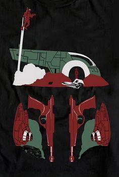 Boba Fett T-shirt print by Steve Thomas