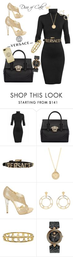 """""""Black & Gold outfit Versace"""" by Diva of Cake Polyvore featuring Undress and Versace"""