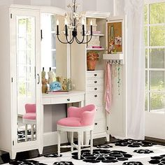 I need this makeup vanity...even the pink chair