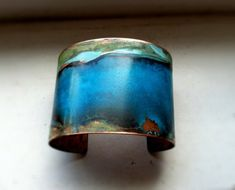 This The Original Patina Cuff Mixed Verdigris 2 Copper is just one of the custom, handmade pieces you'll find in our cuff bracelets shops. Jewelry 2014, Jewelry Art, Jewelry Design, Jewelry Ideas, Jewellery, Enamel Jewelry, Copper Jewelry, Wire Jewelry, Layered Bracelets