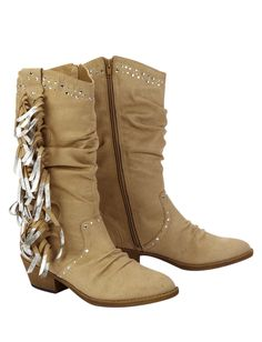 Embellished Cowboy Boots With Fringe | Boots | Shoes | Shop Justice
