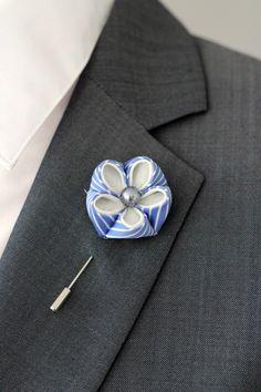 Pin solapa flor azul de verano flor de solapa por Nevestica en Etsy