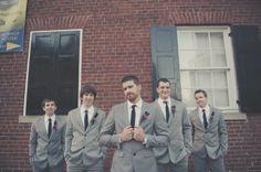 grey volcom suits - the best grey groomsmen suit ever