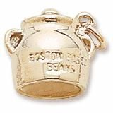 Boston Baked Beans Charm in Yellow Gold Plated
