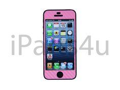 iPhone 5 Carbon Skin Pink iPad Zubehör, iPhone Zubehör und iPod Zubehör || Gut und Billig