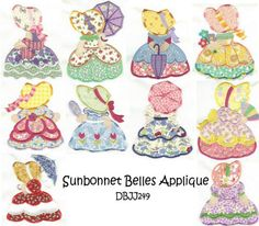 Free Embroidery Sunbonnet Sue Pattern   Embroidery Designs   Free Machine Embroidery Designs   JuJu Sunbonnet ...