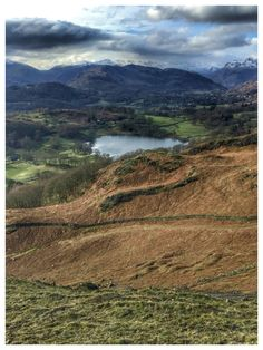 Loughrigg Tarn and Fell. Lake District