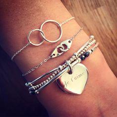 Composition de bracelet Saint-Valentin - L'Atelier d'Amaya