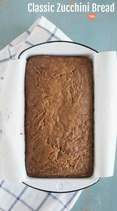 Low Carb Recipes To The Prism Weight Reduction Program Classic Zucchini Bread Recipe Made With Fresh Or Frozen Zucchini, Melted Butter, And Just The Right Amount Of Sugar. Classic Zucchini Bread Recipe, Easy Zucchini Bread, Easy Zucchini Recipes, Easy Bread, Healthy Recipes, Easy Recipes, Healthy Kids, Cooking Recipes, Dessert Recipes