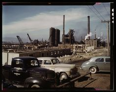 Geneva Steel, in Vineyard, Utah, under construction in 1942. The plant was built to produce steel for the war effort.  Courtesy Library of Congress