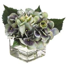 The Difference Between Fake Flowers and Faux Florals: Single Blue Hydrangea
