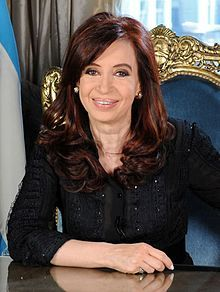Cristina Fernandez de Kirchner is the 55th and current President of Argentina and widow of former president Néstor Kirchner. She is Argentina's first elected female president! She handles herself with class when a crisis arrives. Cristina Fernandez is the girl who rocks the planet! http://thegirlwhorockstheplanet.tumblr.com/