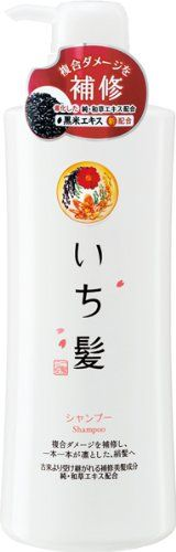 Ichikami Herbal Shampoo with Rice Bran by Kracie Pump Dispenser  550ml *** More info could be found at the image url.Note:It is affiliate link to Amazon.