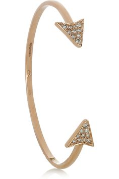Beautiful! Anita Ko|Arrow 18-karat rose gold diamond bracelet|NET-A-PORTER.COM $5000        0_o