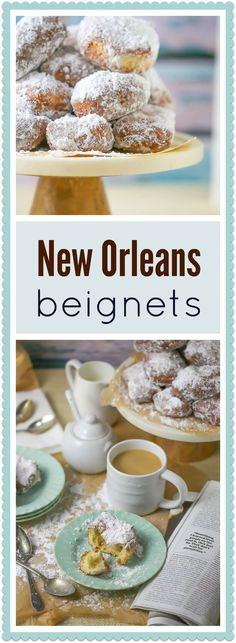 Beignets are beyond delicious served warm with a heavy dusting of powdered sugar. So pour yourself a cafe au lait and get ready to be transported to NOLA on the first bite.