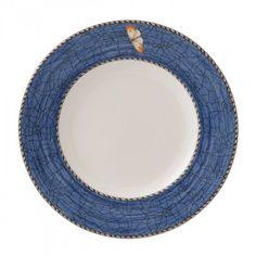 Historical Porcelain manufacturer Wedgwood UK Sarah's Garden Plate 18cm Blue