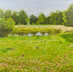 Painting: Rob Donders   Oil on canvas - WEIDEPOEL