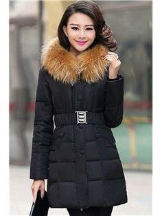 Nagymaros Collar Fashion Slim Down Coats
