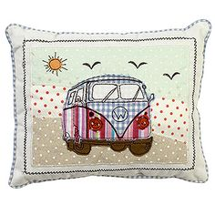 Camper+Van+Patchwork+Cushion