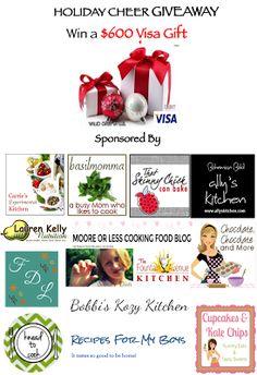 Holiday Cheer Giveaway--- win a $600 Visa Gift Card!