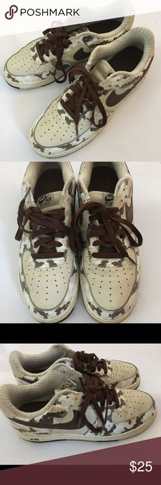 Nike Air Force One Rare edition of camouflaged Air Force One. These still have a lot of life to live! See pics for signs of wear. Nike Shoes Sneakers