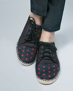 Nice and fashionable - red dots #shoe