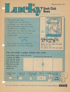 Lucky Book Club flyer - 1974