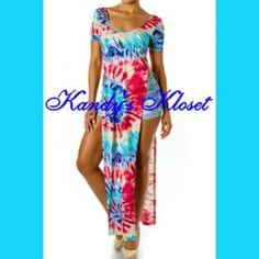 Tie Dye High Slit Dress · Kandy's Kloset · Online Store Powered by Storenvy