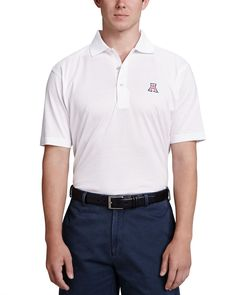 Arizona Gameday Polo, White, Men's, Size: XX-LARGE - Peter Millar