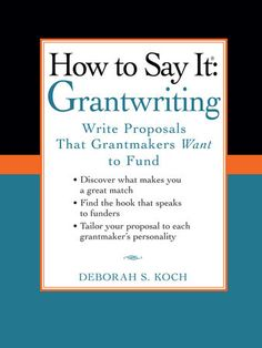 Proposal Writer, Grant Proposal Writing, Grant Writing, Business Grants, Business Planning, Daycare Business Plan, Business Writing, Business Money, Business Help