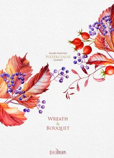 This set of 6 high quality hand painted watercolor Wreaths & Bouquets Perfect graphic for wedding invitations, greeting cards, photos, posters, quotes and more.   Item details:  3 x Wreaths in PNG (transparent background, RGB) 3 x Bouquets in PNG (transparent background, RGB)  size (larger side) aprox.: 18 - 8 inch, 5400 - 2400px 300dpi ----------------------------------------------------------------  Instant Download: Once payment is cleared, you can download your files directly from your…