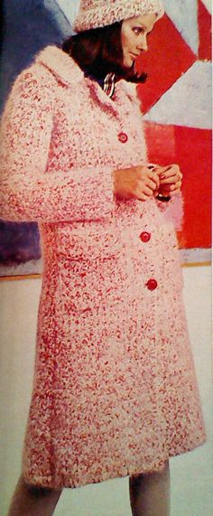 Vintage Crochet Patch Pocketed Coat Classic by MAMASPATTERNS, $3.50