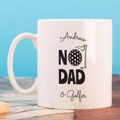 Personalised Mug - No1 Dad And Golfer Mug | GettingPersonal.co.uk