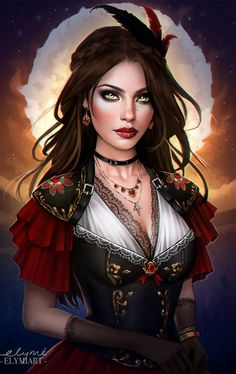 Face Drawing - Face Drawing Commission: Diane De Valombre Half Body by elymiart on DeviantArt – - Fantasy Girl, Fantasy Art Women, Beautiful Fantasy Art, Fantasy Inspiration, Character Inspiration, Fantasy Characters, Female Characters, Character Concept, Character Art