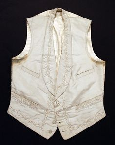 Vest Date: 1874 Culture: American Medium: silk, cotton Accession Number: C.I.51.39.11