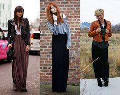 winter long skirt