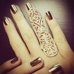 i love the nails, but I wanted to repin this one for the ring. It is just so beautiful