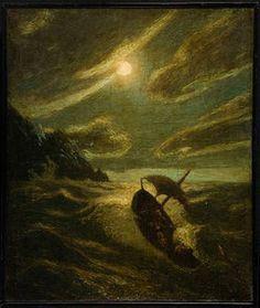 """Sea Tragedy,"" Albert Pinkham Ryder, ca.1892, oil on canvas, 15 5/8 x 13 1/8"", Ball State Museum of Art."
