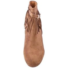 Womens Diva Fringe Suede Ankle High Wedge Boot * Be sure to check out this awesome product. (This is an affiliate link) #Outdoor
